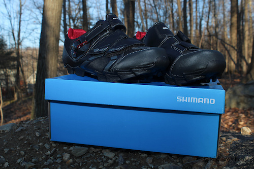 New Shimano SPD, XC shoes courtesy of my 2014 Shimano Sponsor and Team Town Cycle
