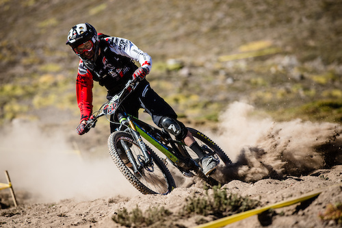 Florian Nicolai put in a breakthrough ride this weekend - taking third place, ahead of illustrious neighbour, Fabien Barel. He showed good pace last year, but a podium in a field this strong signals that he has put the work in over the winter to start playing with the big boys this year.