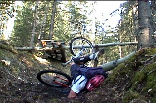 My handle bar snapped landing this drop and the next day I walked into Calgary Cycle and bought my first Santa Cruz.