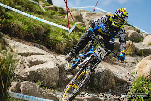 Sam Hill was absolutely pinned through the rocks up top.  It's been a while since he has so confidently attacked such gnarly tracks and it's good to see him so close to that top step of the podium.