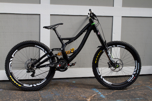 2014 S-Works Demo w/Ohlins shock, DVO Emerald, Enve rims, stem, and bars, XO cranks, XO shifter and derailer, E-13 Ti pedals, E-13 chainguide, Chris King BB, Minion DHF front and rear