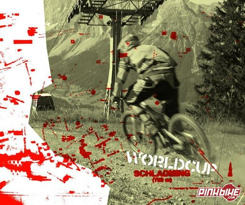 My hombre Ludvig Roost playing with the photo shop. The red blach is a abstract of the map of schladming.