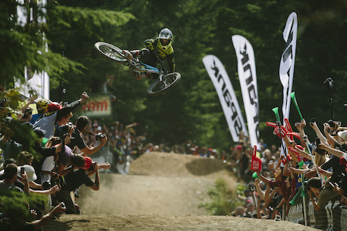 Finn Isles, 1st place at the Official Whip off Worlds, Crankworx 2014, Whistler, British Columbia, Canada