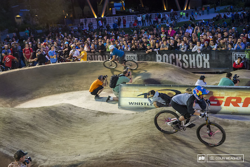 Jill Kintner pretty much took care of business on round one of the ladies Pumptrack Challenge.