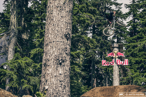 """Dropping in. Nicholi may be the next """"big thing"""" in the slopestyle game as he pulls everything with an ease."""