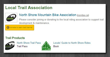 Trail association promotion.