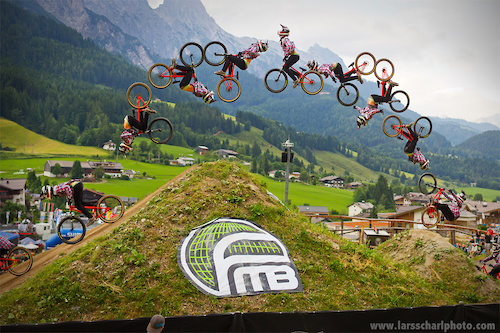 During this year's 26 Trix contest, Antoine threw down the first ever double backflip nohand on a MTB. It wasn't enough to win the contest but he secured the Best Trick award with it. ;)