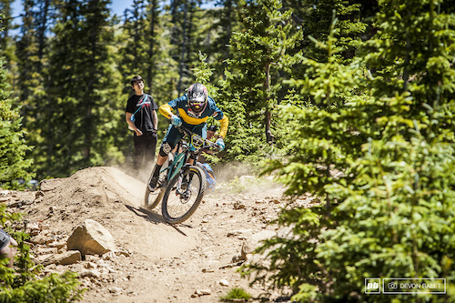 Keystone Resort is Nate Hills' local resort. He had a tough fight this weekend against a stacked Pro Men's field and finished in 4th overall.