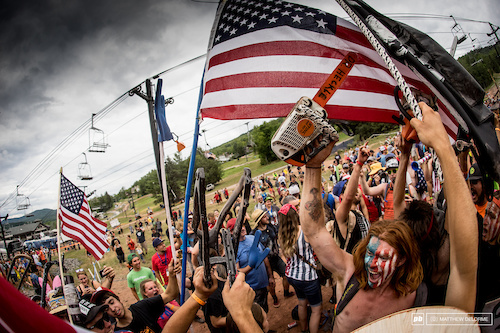 Some of the crowds resembled a modern day Braveheart display of patriotism. Much beer was funneled.