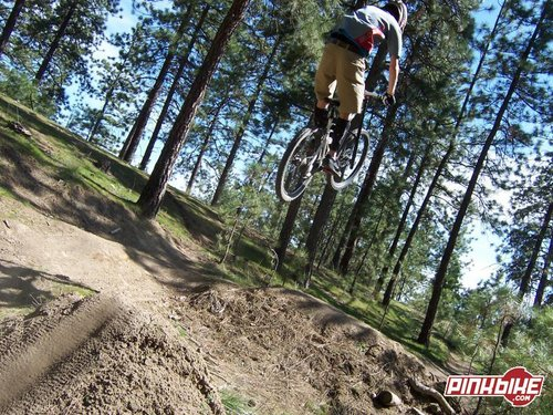cool angle of the step up after the road gap