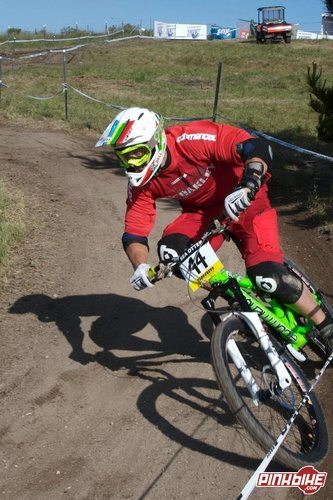 Cedric on his Commencal