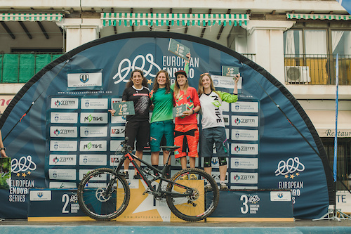 Overall podium of the European Enduro Series 2015 on October 18 in Benalmadena / Spain, 2015. Free image for editorial usage only: Photo by Antonio Lopez