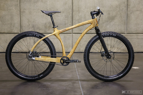 Chris Connor of Connor Wood Bicycles  from Denver, Colorado brought this 27.5 plus bike.