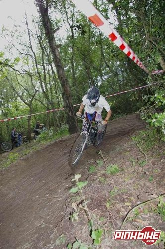 Pedalling out of the 2nd berm in a race a little while back