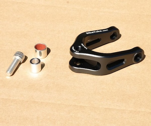 Bike Yoke shock adapter for Specialized Stumpjumpers.