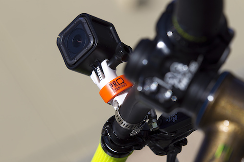 The 360 Quick Connect Leaverite Pipe Master GoPro Mount is the lightest, fastest most adjustable GoPro mount for your bike. Mount onto your bars, seat rail or frame with the included metal clamp or velcro strap.   Once installed simply drop your GoPro with the 360 Quick Connect Camera Mount attached, onto the stud. You can adjust the rotational tension so you can lock the camera in a set position or make it so you can turn the camera with your had to quickly adjust the angle with out stopping. Swap your GoPro between mounts by flipping open the lever and dropping the mount on to another 360 Quick Connect Mount.  It takes all of two seconds to change mounts. Best of all the rotational and pivot settings don't change when you swap mounts. You can place your GoPro on any angle so you can get amazing new angles instead of the stock GoPro angle you're used to.   Quickly and easily swap the GoPro from the bike mounted accessories to pack mounts, helmet mounts and more with the GoPro compatible Cleat, the GoPro Compatible Tine Mounts and the Webbing Sticky Mount that turns your sternum or shoulder strap on your pack into an instant chesty or shoulder mount. I called them Leaverite's because once mounted they are so small and light that you'll leave'r right there so it's ready for use any time.  Thanks to Chromag Bikes for the Stylus to model the parts.  Hit www.prostandard.com to order. A set of three Pipe Masters and a Camera Mount are $45USD. Free shipping on all March 2017 orders.