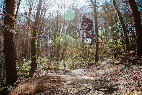On the other side of the lens.  @KNOLLYBIKES
