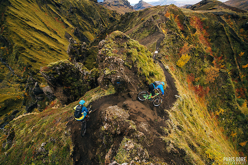 KC Deane and Geoff Gulevich riding in Iceland.