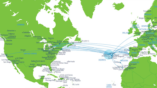 direct flights to the Azores Islands