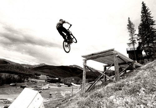 Testing the step up for crankworx co.