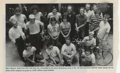 Specialized Bicycle crew circa 1986