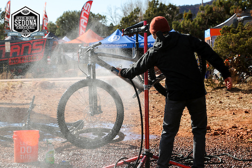 With another festival in the books all the bike vendors had a full job ahead of cleaning and tuning the fleet before their next event.