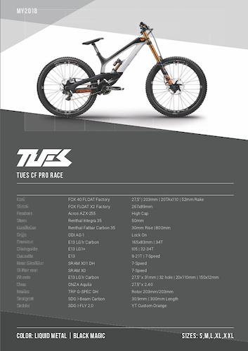 YT Tues 2018 - CF Pro Race spec