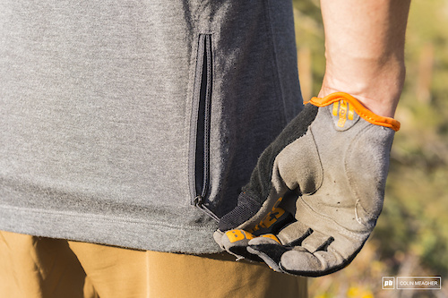 Easy to reach zip pocket