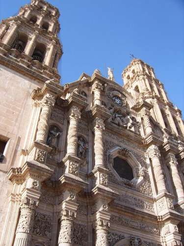 Chihuahua's Cathedral just around the corner from our first sleep in Mexico