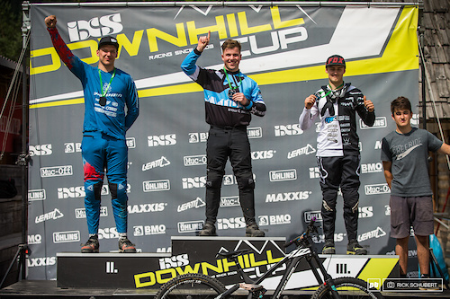 Pro U19 male podium with Marcel Merkeli, Tristan Botteram, Hannes Lehmann and Zak Gomilscek