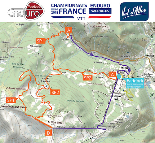 French Enduro Series 2018 race course for 1rst day
