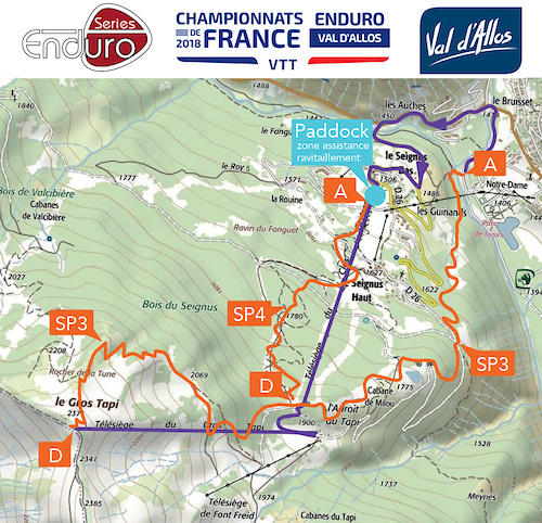 French Enduro Series 2018 race course for 2nd day