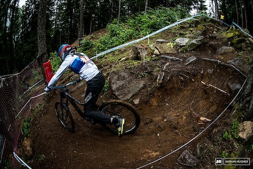 Slovenian privateer, Monika Hrastnik, getting mighty skecthy on her way to a decisive 10 second shock victory in the women's field.