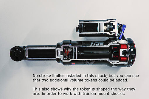 No stroke limiter on this shock.