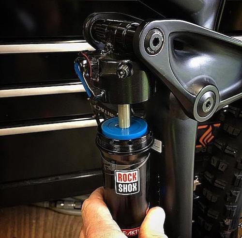 Blue puck is a stroke limiter on ReActiv shock.