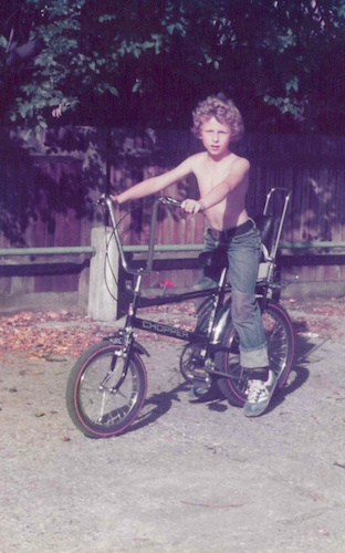 One of Szymon s first bikes was a Raleigh Chopper