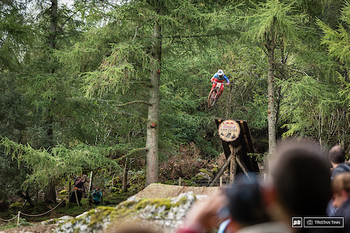 Joe Smith sends it out of the woods ending up in 4th just 0.094 seconds back from Hatton in 3rd