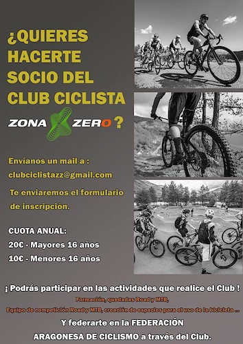 This month saw the birth of Ainsas very own Cycling Club The Club Ciclista Zona Zero was created and adopted its constitution at a meeting in mid January. The club will cater for Men Women Road and MTB riders of all ages and as well as organising the usual rides it will also arrange rides specifically for Ladies rides for Children and Social Family rides. We ve joined the club and we re looking forward to an exciting year ahead