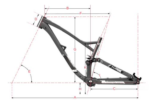 Lone Bicycles Geometry Chart Schema