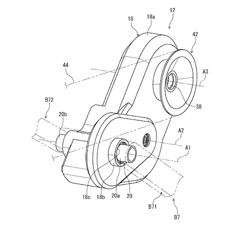 Shimano gearbox patent application