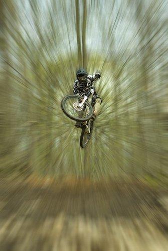 Cool zoom blur effect.