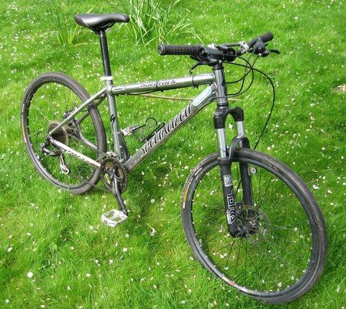 my specialized hardrock XC with skinny tyres on...