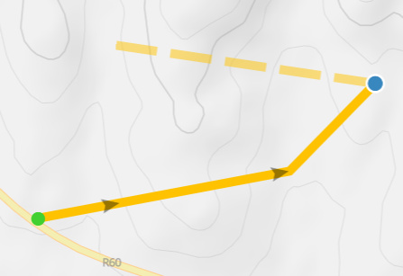 Hold ALT to ignore auto-routing and draw a straight line between points.