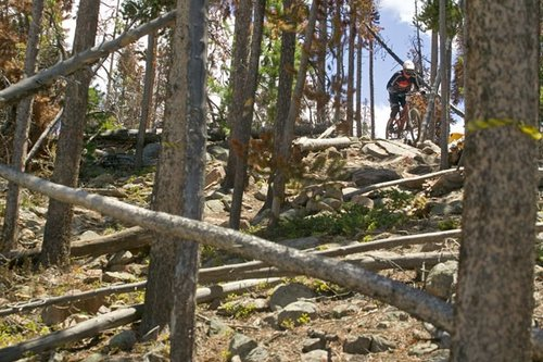 The rocks and trees were just as anxious as riders to see some action.