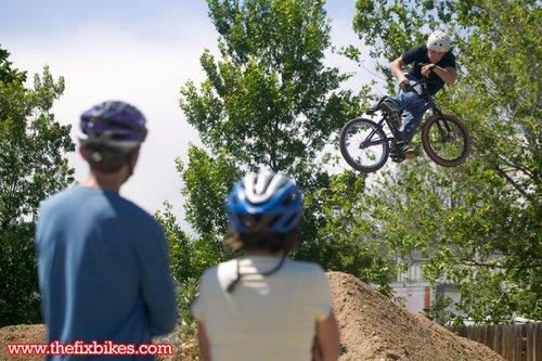Ft. Collins Luke clicks a nasty Look Back for some spectators.