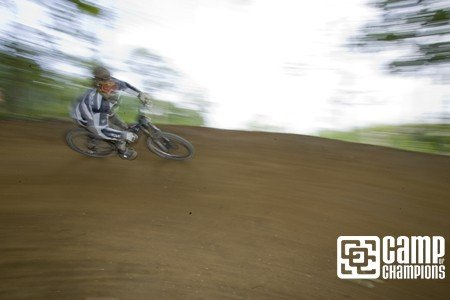 Aaron Muss post hot tub, ripping through the IndyCross