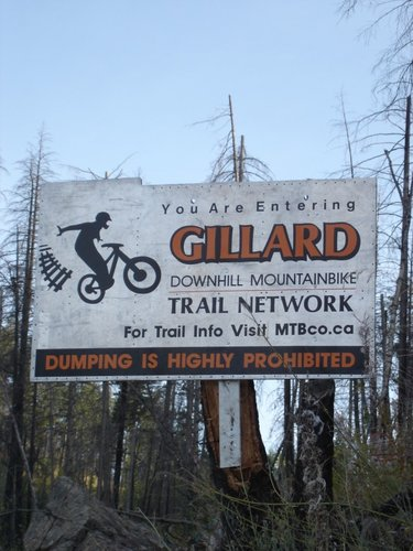 New Gillard sign courtesy of Sign Design Okanagan, MTBco Platinum Sponsor