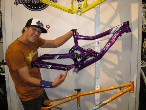 Geoff and his new frame