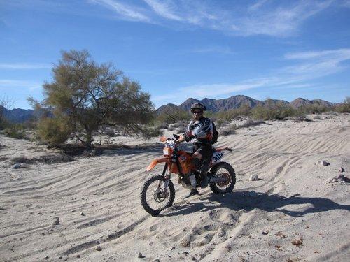 Riding the baja 1000 course
