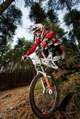 Handling the steep and technical UK style.